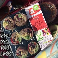 Marks and Spencer teriyaki beef salad bites - 2 syns for the whole pack slimming world