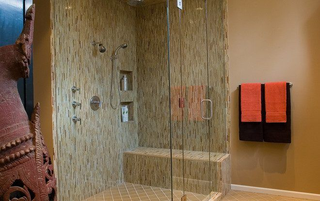 Astonishing Corner Shower Stall Amazing Ideas With Tile Floor And