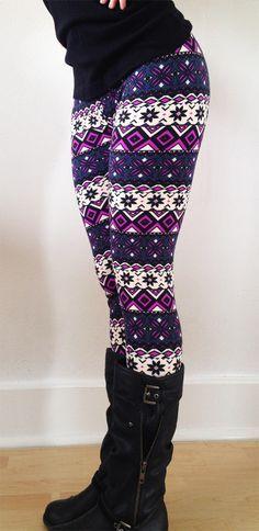 Women leggings, Flower Leggings, Colorful Leggings, Yoga Leggings, Pattern Leggings, flowers Leggings, tribal leggings on Etsy, $16.00