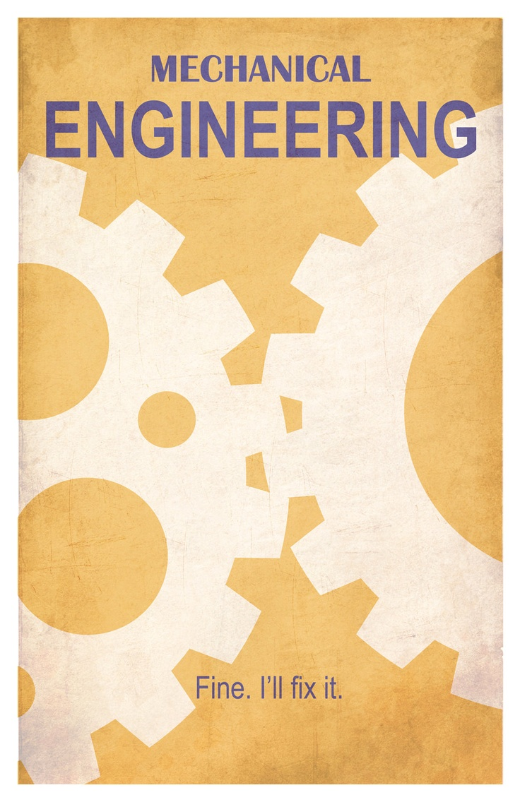 Mechanical Engineering 11x17 minimalism poster by EskimoChateau