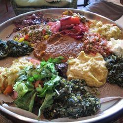Photo of Ras Dashen Ethiopian Restaurant - Chicago, IL, United States. vegetarian selection