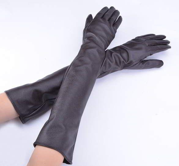 Sarung Tangan Faux Leather Autumn Winter Warmlong Gloves ...