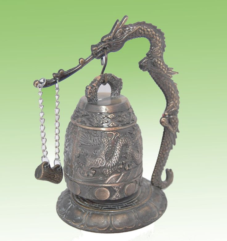 Collectible Tibet wonderful carved brass dragon bell
