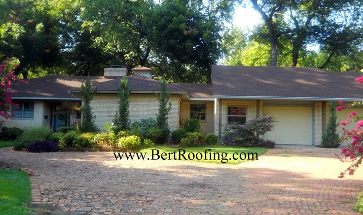 GAF Timberline Natural Shadow composition shingle, color Hickory. Installed by Bert Roofing in Dallas on August 2013.