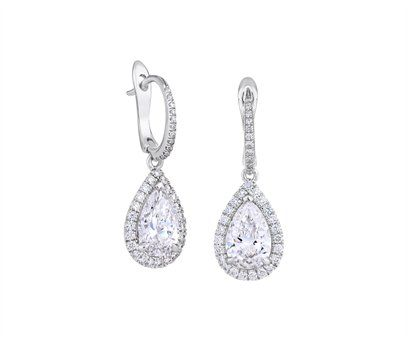 with prong settings setting gold in stud earrings p your v shaped own angle white diamond pear jewelry design shape