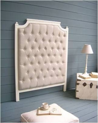 Classic Style Headboard For Double Bed   WHITE   ArchiExpo. White Headboard  And Beige Linen