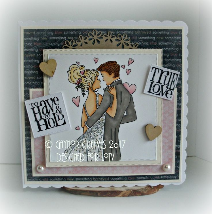 Hi peeps I have a sweet wedding card to share this is a sneaky peak for LOTV the image is called Loved up and will be available o...