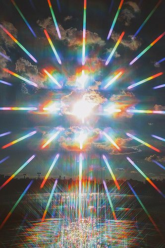 We are beings experiencing reality in 7 layers of color and 56 dimensional possibilities.