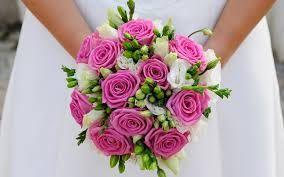 Afbeeldingsresultaat voor bruidsboeket paars