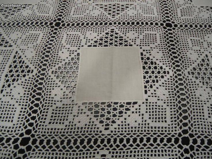 Toalha renda e linho - à venda - Têxteis lar & Utilidades, Castelo Branco - CustoJusto.pt