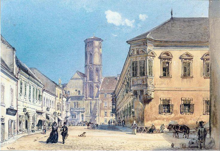 The parish church in Ofen by Rudolf von Alt, 1845