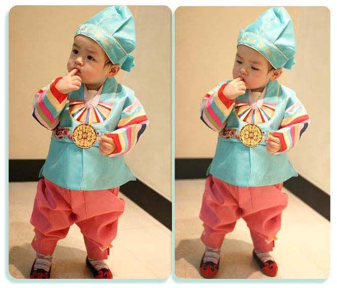 Little hanbok model