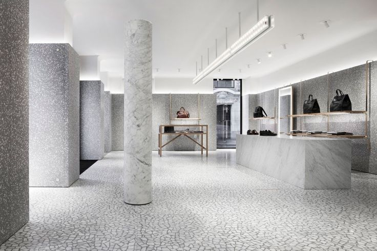 David Chipperfield Architects – Valentino Man Store Tiles, Marble, White, Grey