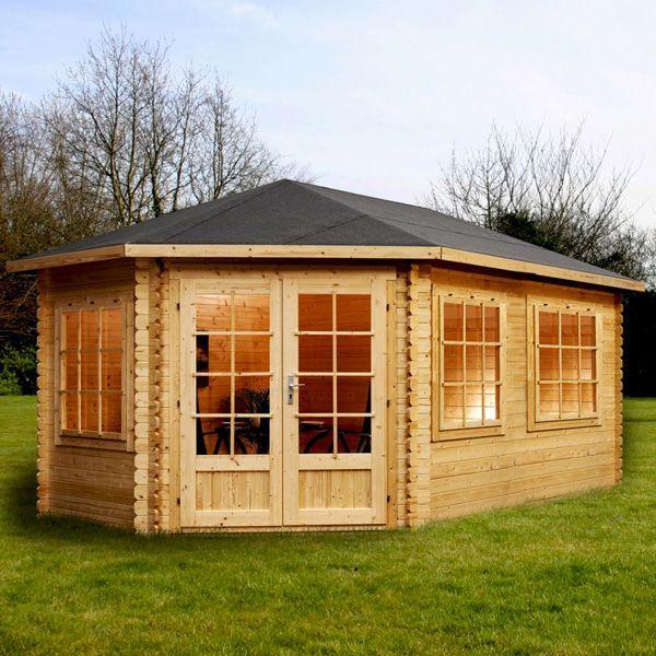 avon 5m x 3m somerset corner log cabin left sided http