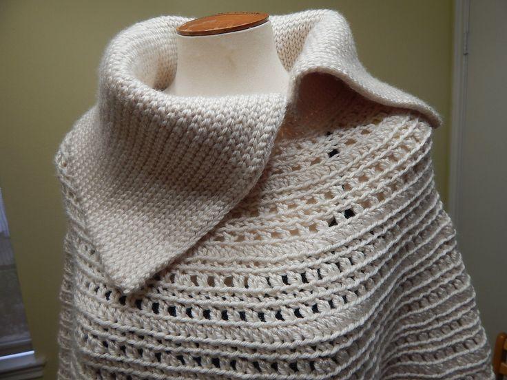 Capa tejida a Crochet con estambre, facil y muy abrigadora a la medida que necesite