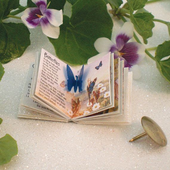 Miniature Fairy Book (double sided printed pages, with illustrations & pop up) - Free Postage Worldwide
