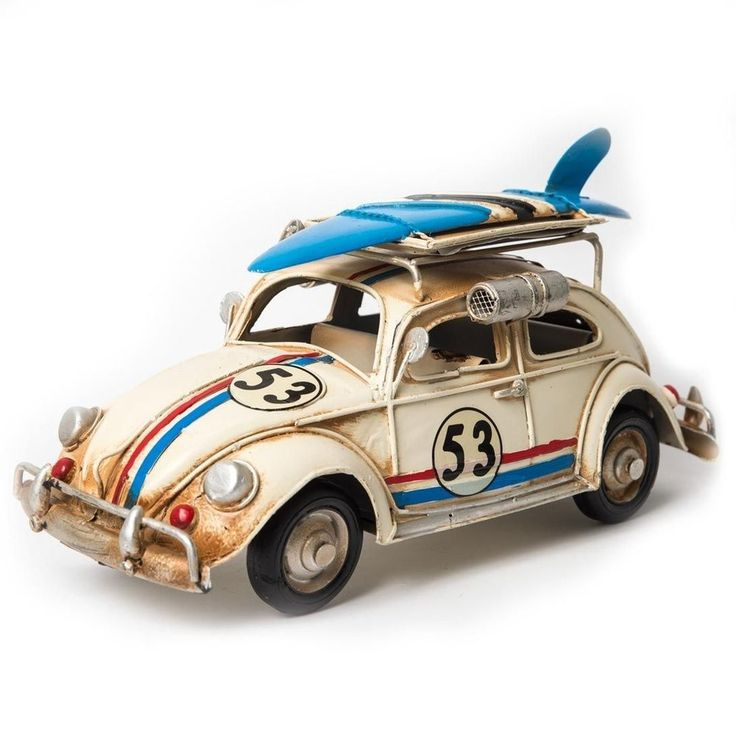 Miniatura Fusca Herbie 53. Miniatura de carro antigo – Fusca da Volkswagen para colecionadores e apaixonados pelo carro mais famoso do mundo.