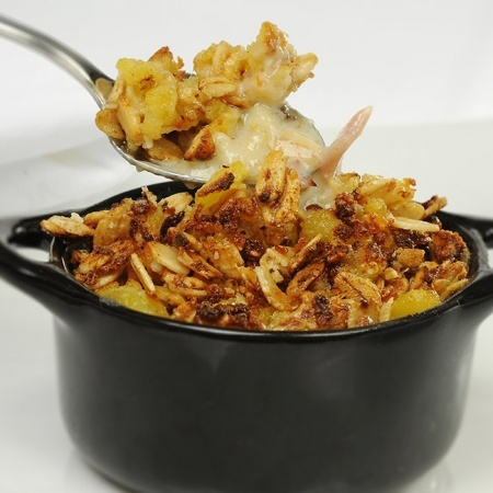 Croustade de pommes de terre rattes au jambon blanc, endives et La Sauvagine