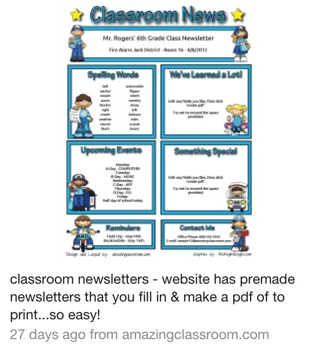 13 best Newsletter templates images on Pinterest Model, School - newspaper templates for kids