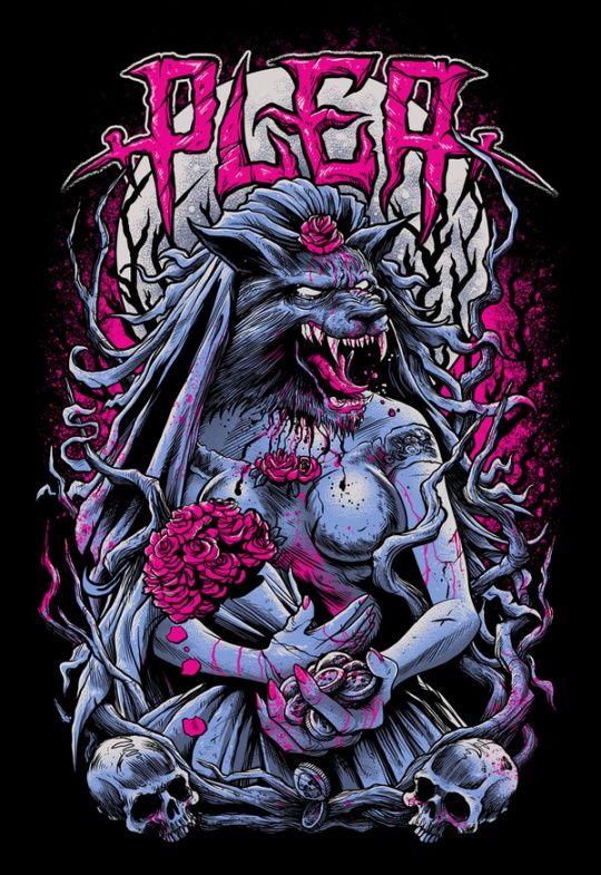 stunning horror art by brandon heart art amp illustration