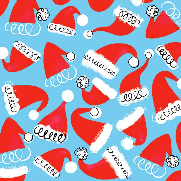 Margaret Berg Art: Santa Hats Pattern