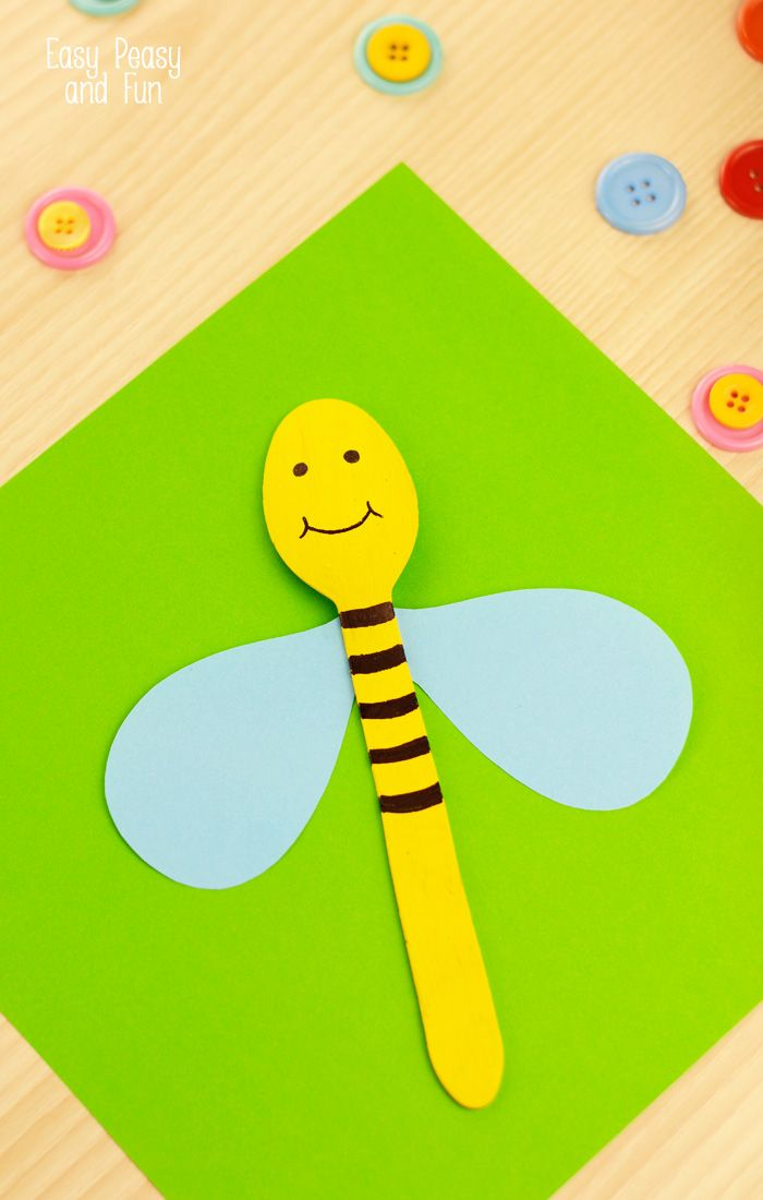It's almost spring and the bugs have already found their way out to catch the sun. We started making wooden spoon puppets and this wooden…