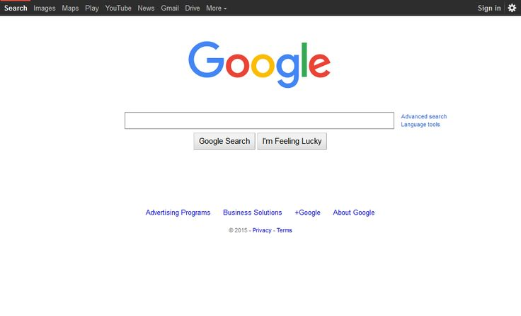 Google website in 2015