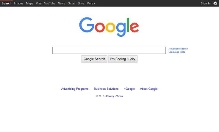 Google website in 2015