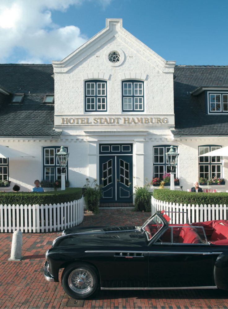 """Hotel Stadt Hamburg"" Hotel and restaurant on the seafront. Westerland/Sylt, Germany. http://www.hotelstadthamburg.com/de/  #relaischateaux #hotel #sylt #germany"