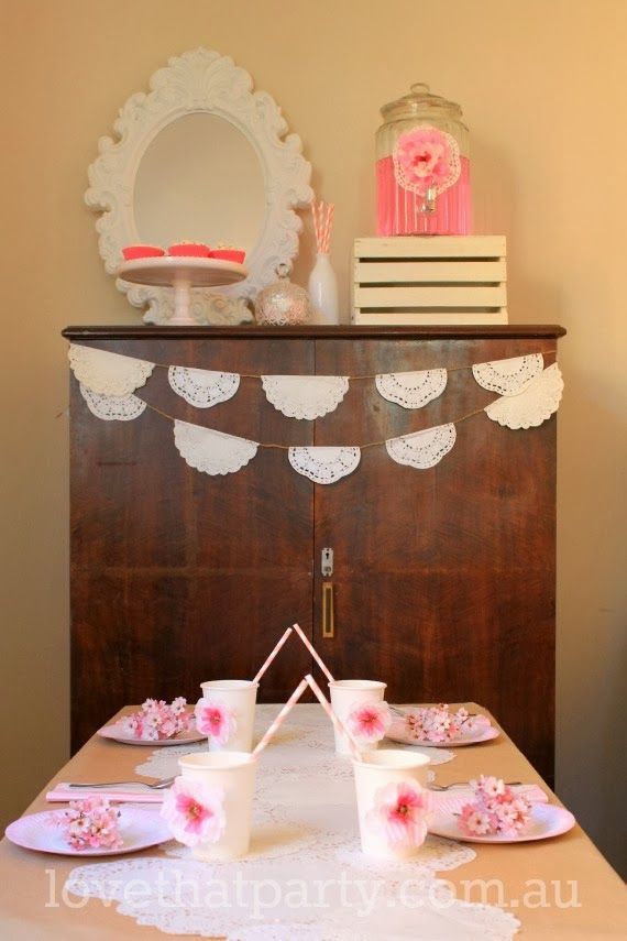 DIY Vintage Lace Party: Budget Party Ideas from Love That Party. All the  DIY tutorials to re-create the inexpensive party decorations featur.