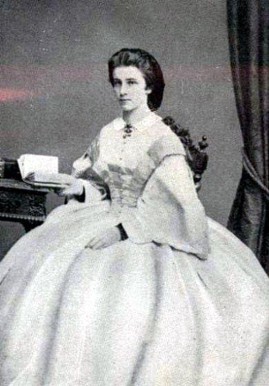 Duchess Mathilde Ludovika, Bavaria, Germany, ca. 1870.
