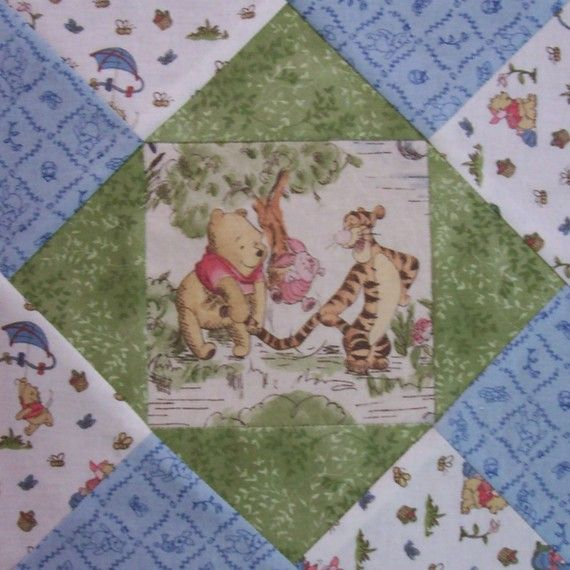 Winnie the Pooh Pre Cut Fabric Quilt Block Kit by Hoosierquilter, $34.99