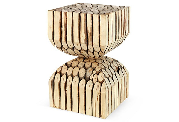 This is such a fun piece......Wood Bundle Stool on OneKingsLane.com.: Bundle Stools, Pieces Wood Bundle, Tigers Lily, Fun Piece Wood, Fun Pieces Wood, Piece Wood Bundle, Woods, Products, Tigers Lilies