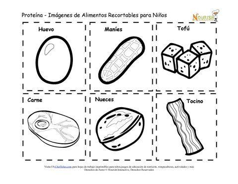 Recortables imprimibles de tarjetas de memoria de for Comida saludable para ninos