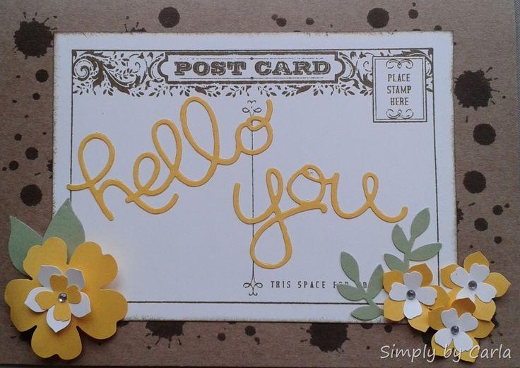 Hello You card using SU thinlits