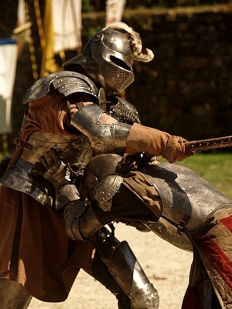 Knights wore armor for battle. They lived by a code of conduct called chivalry.