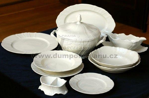 Jídelní souprava pro 6 osob, Thun 1794, karlovarský porcelán, BERNADOTTE slonová kost - - | Dumporcelanu.cz