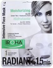 Iroha Intensive Facial Cloth Mask Comforting Aloe Vera + Green Tea + Ginseng + HA (One use)