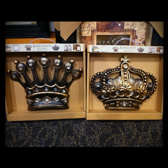 His and hers royal crowns from kirkland 39 s give yourself for His and hers bathroom decor