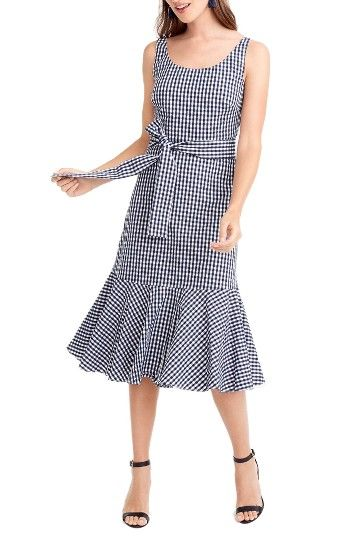Free shipping and returns on J.Crew Gingham Ruffle Hem Midi Dress (Regular & Petite) at Nordstrom.com. Gingham and ruffles = the best combination since peanut butter and jam. Consider all your spring/summer plans handled.