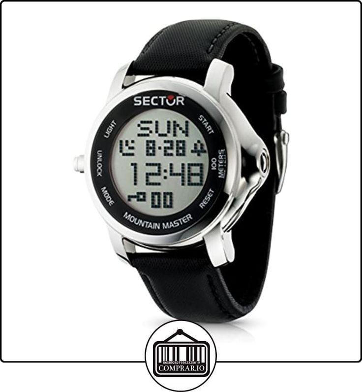 Sector R3251121025 - Reloj con correa de cuero para hombre, color negro / gris de  ✿ Relojes para hombre - (Gama media/alta) ✿