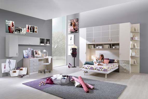 Modern teen girl room