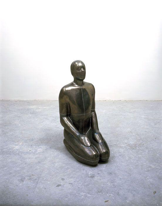 "Antony Gormley [UK] (b 1950) ~ ""AIR I"", 1994. Lead, plaster and air (105 x 70 x 49 cm).   #art #sculpture #figurative"