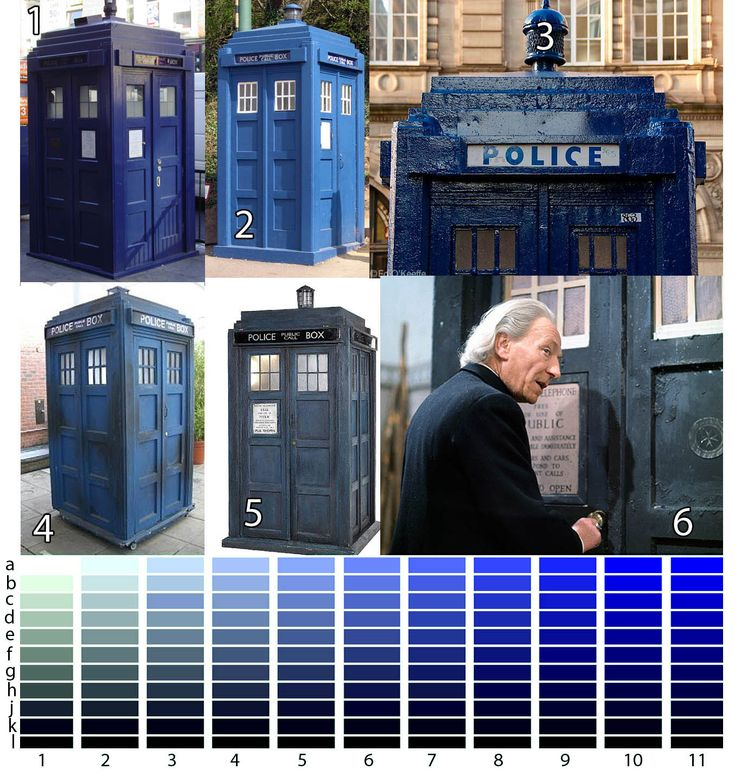 shades of tardis blue for my themed bedroom one day
