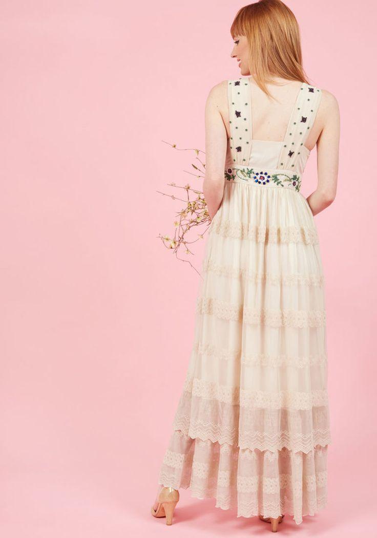 Open Devotion Maxi Dress in Rich Ivory