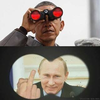 """....winning photo of the week.... Putin said off the record: """"Negotiating with Obama is like playing chess with a pigeon. The pigeon knocks over all the pieces, shits on the board and then struts around like it won the game."""""""