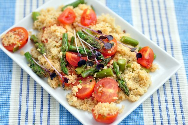 Eating Outside This Summer? Try This Light Asparagus Couscous Salad!