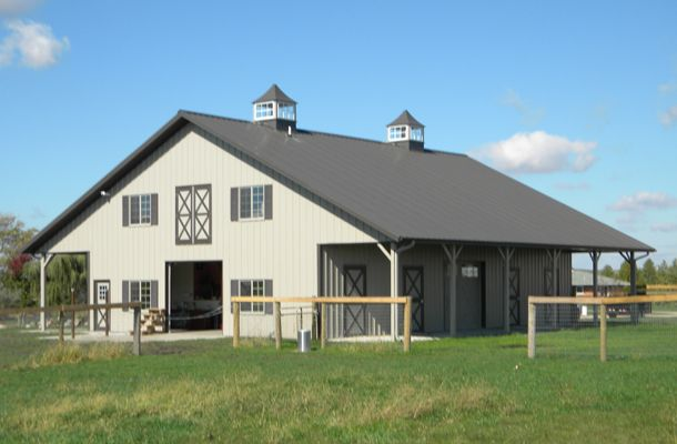 1000 ideas about 40x60 pole barn on pinterest metal for Barn kits with living quarters