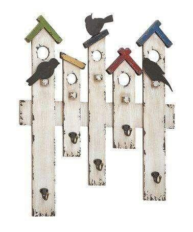 Picket fence bird house art