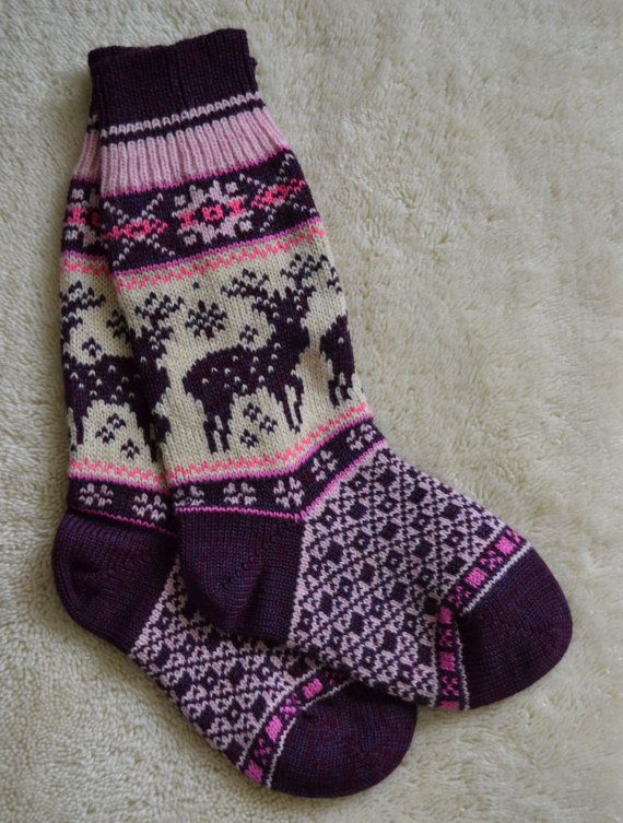 NORWEGIAN Scandinavian Hand Crafted 100 wool by NordicStarStudio, $23.00